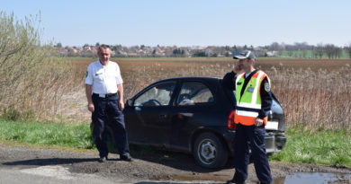 Elhagyott autót találtak a Pécs-Hird Polgárőr Egyesület tagjai