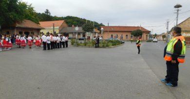 Szüreti felvonulás biztosítása Szászváron